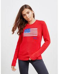 Polo Ralph Lauren Flag Knit Jumper Red