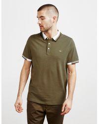 034c9f37 Michael Kors Tape Shoulder Short Sleeve Polo Shirt in Blue for Men ...