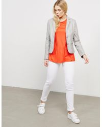 Rino & Pelle Soft Leather Blazer Jacket Grey