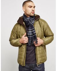 Barbour Lambswool Traction Scarf Navy Blue