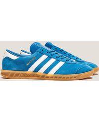 adidas Originals - Mens Hamburg Bluebird/white/gum, Bluebird/white/gum - Lyst