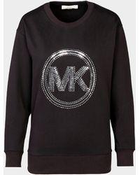 Michael Kors Sequin Logo Sweatshirt Black