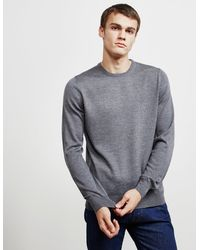 Gran Sasso Crew Neck Knit Jumper - Online Exclusive Grey
