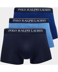 Polo Ralph Lauren - Mens 3-pack Boxer Shorts Blue - Lyst