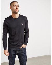 PS by Paul Smith - Mens Zebra Long Sleeve T-shirt Black - Lyst
