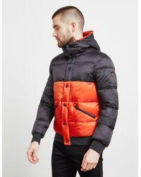 Emporio Armani Block Down Padded Jacket Orange