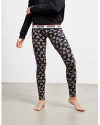 1f8e551a15806 Moschino - Bear Print Leggings- Online Exclusive Black - Lyst