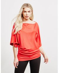 Vivienne Westwood Anglomania Infinity Three Quarter Sleeve Top Red