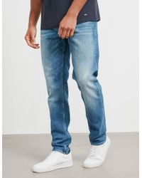 BOSS - Mens Taber Stretch Tapered Jeans Blue - Lyst