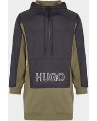 HUGO Windbreaker Dress Multi - Black