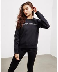 Calvin Klein Institutional Crew Sweatshirt Black