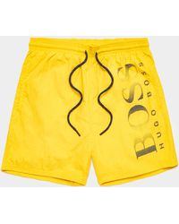BOSS Octopus Swim Shorts Yellow