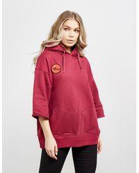Vivienne Westwood Rugged Short Sleeve Hoodie Red