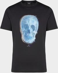 PS by Paul Smith Blue Skull T-shirt - Black