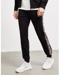 Karl Lagerfeld - Tape Track Trousers Black - Lyst