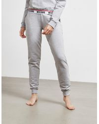 Moschino Tape Logo Track Trousers Grey - Gray