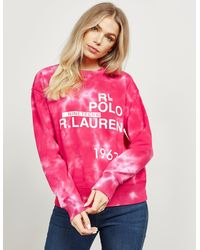 Polo Ralph Lauren Tie Dye Sweatshirt - Pink