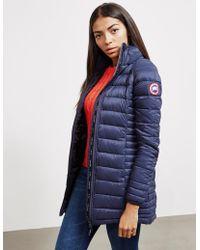 Canada Goose - Womens Brookvale Padded Jacket Blue - Lyst