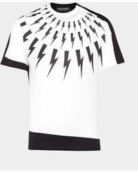 Neil Barrett Bolt Panel Short Sleeve T-shirt - White