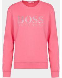 BOSS by Hugo Boss Ebsa Crystal Sweatshirt - Pink