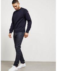 Paul & Shark Button Shoulder Sweater Navy Blue