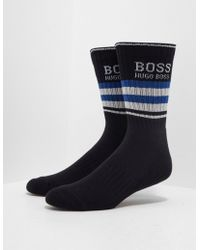 BOSS - Quarter-length Socks In A Combed Stretch-cotton Blend - Lyst