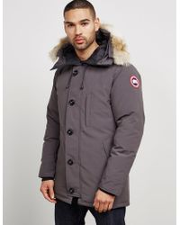 Canada Goose - Mens Chateau Padded Parka Jacket Grey - Lyst