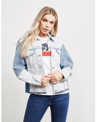 Levi's - Womens Levis Denim Trucker Jacket Blue - Lyst