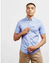 BOSS Biadia Short Sleeve Shirt Blue