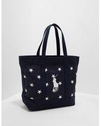 c9227ee52d9 Polo Ralph Lauren - Mens Stars Tote Bag - Online Exclusive Navy Blue - Lyst