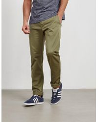 Edwin - Mens Ed-55 Relaxed Tapered Chinos Olive/olive - Lyst