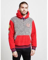 Polo Ralph Lauren Sherpa Fleece Popover Hoody - Red