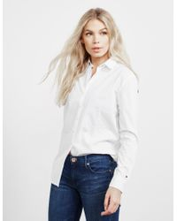 Tommy Hilfiger Icon Girlfriend Long Sleeve Shirt White