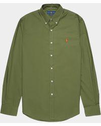 Polo Ralph Lauren Poplin Long Sleeve Shirt Green