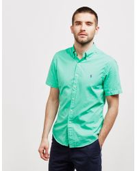 Polo Ralph Lauren Garment Dyed Short Sleeve Shirt Green