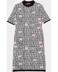 HUGO Logo Knit Dress - Grey