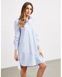 Karl Lagerfeld Stripe Shirt Dress Blue