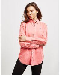 Polo Ralph Lauren Oxford Long Sleeve Shirt Red