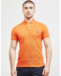084e21e1 Lyst - Polo Ralph Lauren Mens Mesh Short Sleeve Polo Shirt Pink in ...