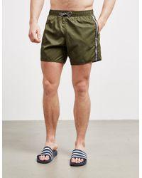 Emporio Armani Loungewear Tape Swim Shorts Green