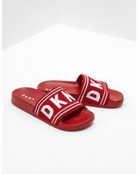 DKNY Zora Slides Red