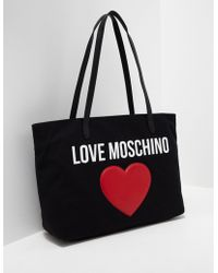 Love Moschino - Womens Heart Shopper Bag Black - Lyst