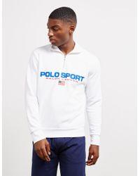 Polo Ralph Lauren Polo Sport Long Sleeve Half Zip - White