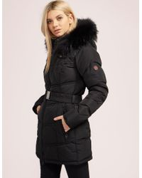 FROCCELLA - Womens Belted Padded Jacket - Online Exclusive Black - Lyst
