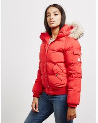 Pyrenex - Aviator Bomber Jacket - Exclusively To Tessuti Red - Lyst
