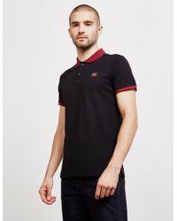 Paul & Shark Contrast Short Sleeve Polo Shirt - Exclusive - Black