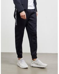 Emporio Armani Waist Logo Track Pants Navy Blue