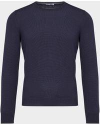Gran Sasso - Knitted Jumper Blue - Lyst