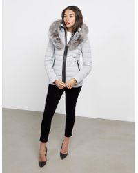 Mackage - Womens Kda-x Fur Padded Jacket Grey - Lyst