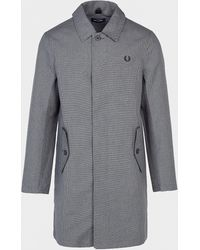 Fred Perry Houndstooth Mac Black
